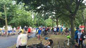 The scene at the start of the ride